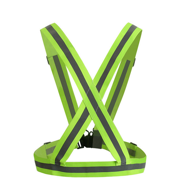 Hot 360 Degrees High Visibility Neon Safety Vest Reflective Belt Safety Vest Fit for Running Sports green