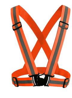 Hot 360 Degrees High Visibility Neon Safety Vest Reflective Belt Safety Vest Fit for Running Sports orange