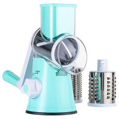 Vegetable Cutter Manual Vegetable Spiral Slicer Cheese Grater Clever Vegetable Chopper Kitchen Tool blue one size