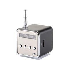 TD-V26 Mini Speaker Portable MP3 Music Player  LCD Support FM Radio Micro TF SD Stereo Loudspeaker black TD-V26