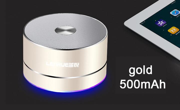 A2 Portable Wireless Bluetooth Speaker Stereo LED Speakers MP3 MINI Subwoof Smart  Loudspeaker 500mah gold A2