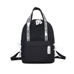 Large Capacity Backpack Women School Bags For Teenagers Female Nylon Travel Bags Girls  Backpack black one size