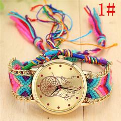 Geneva Bracelet Handmade Braided Dreamcatcher Bracelet Watch Ladies Rope Watch Quarzt Watches 1 one size