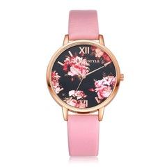 Fashion Leather Strap Rose Gold Women Watch Casual Quartz Wrist Watch Women Dress Ladies Watches 1 one size