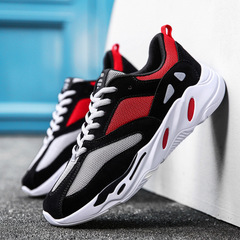 Men shoes 2018 fashion west mesh light breathable men casual shoes men sneakers Daddy shoes red 35