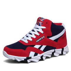 2018 autumn winter Casual shoes men comfortable Plush Keep warm adult male Sneakers snowshoes red 39