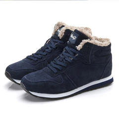 Men Sneakers Winter Shoes Mens Chaussure Homme Sport Winter Sneakers With Fur Men Boots blue 36