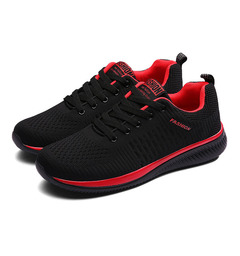 Sneakers Men Comfortable Sport Shoes Men Trend Lightweight Walking Shoes Breathable Casual shoes red 38