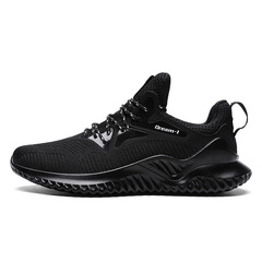 Running Shoes Men Lace-up Athletic Sports Male Shoes Outdoor Sneakers Breathable canvas casual shoes black 39