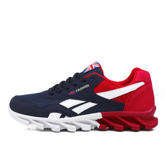 2018 Popular Fashion Casual Shoes Men  Breathable sneaker adult Non-slip Comfortable Casual shoes red 39