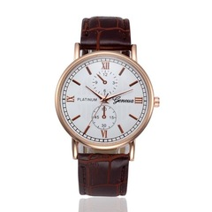 Business Watches Mens Retro Design Leather Band Quartz Wrist Watch Classics Sport Digital Watch brown one size