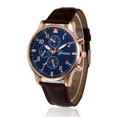 Retro Design Leather Band Alloy Quartz Wrist Watch Mens Watches Digital Masculino Business Clock 1 one size