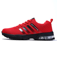 Men Comfortable Non-slip Outdoor Men Sneakers Trainer Shoes Women Breathable Running Casual Shoes red 36