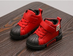 2018 Children's Soft Bottom Bottom Thickened Baby Shoes,Boys'recreational breathable sneakers red 21