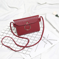Women Leisure Handbags Crossbody Messenger Bag PU Leather Small Sling Shoulder Bags Purses Phone Bag red one size