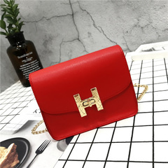 2018 new trend women handbags fashion simple flap retro version shoulder bag woman messenger bag red one size