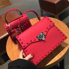 2018 New Women Messenger Bags Handbags Women Bags Fashion Shoulder Bag PU Leather Handbags red one size