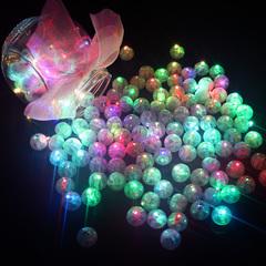 10Pcs Round Ball Led Balloon Lights Mini Flash Lamps for Lantern Christmas Wedding Party Decoration RGB GDX a