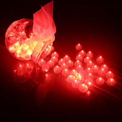 10Pcs Round Ball Led Balloon Lights Mini Flash Lamps for Lantern Christmas Wedding Party Decoration red GDX a