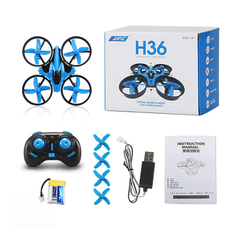H36 Mini Drone RC Drone Quadcopters Headless Mode One Key Return RC Helicopter Mini Toys For Kids blue H36