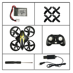 CX-95 Mini Drone RC Drone Quadcopters Headless Mode One Key Return RC Helicopter VS H36 Kids Toys black CX-95