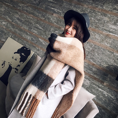 New fashion long scarf shawl female autumn and winter new color mixed wild warm thick fringed scarf 1