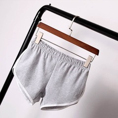 Women Casual Sports running shorts Women's home Yoga beach pants Fitness stretch ladies'shorts gray s