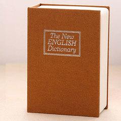Mini sized dictionary Safe Deposit Box safe key  locks Savings jar Coin Pocket money Savings jar yellow one size