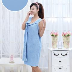 Microfiber Women Sexy Bath Towel Wearable Beach Towel Soft Beach Wrap Skirt Bath Gown big blue 150*80CM / 120*65cm