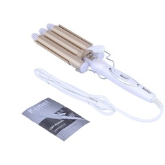 Three-bar curler does not injure curling bar water corrugated splint curling Hair Styler Perm tools gold EU
