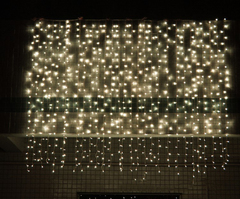 LED Curtain Lamp 3*3 m 304 Lamp Christmas Decorative Lamp Colour Lamp String LED Curtain Lamp Warm color 3*3m EU
