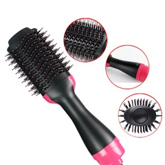 Two-in-one Blower Comb Infrared Negative Ion Hot Air Comb blow Dual-purpose Hair drier Moulding Comb black EU