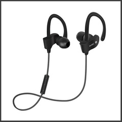 Bluetooth headphone wireless earphone music game video headset waterproof sport microphone earbuds black