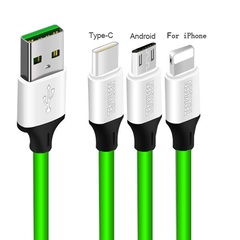 USB Charging Cable for Mobile Phone Quick micro USB cable Charger for iPhone android Samsung Charger green For Android 2m