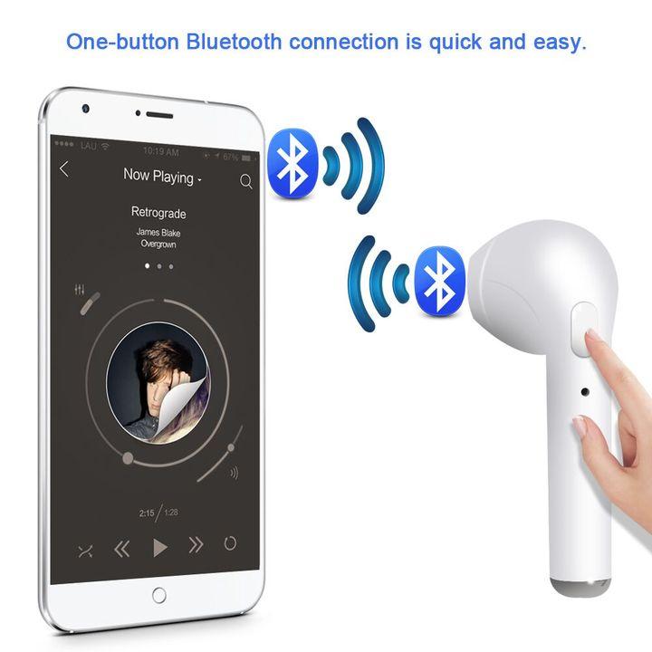 I7s TWS Sport Bluetooth Headset microphone  Wireless Headphones Headsets Stereo In-Ear Earphones red