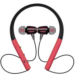 Bluetooth Headset Waterproof Sports Wireless Bluetooth Headset Cervical Stereo Wireless Headphones red