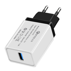 Rapid Loading of qc3.0 Fast USB Charger USB Wall Charger 18 W Quick Charger for US / EU black us