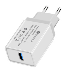Rapid Loading of qc3.0 Fast USB Charger USB Wall Charger 18 W Quick Charger for US / EU white us