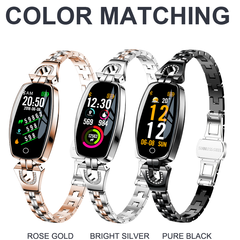H8 Smart Watch Women Waterproof Heart Rate Monitoring Bluetooth For Android IOS Fitness Bracelet black one size