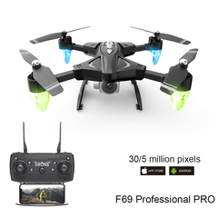 Drone F69 remote control four-axis aircraft aerial long-lived real-time transmission aircraft black No camera