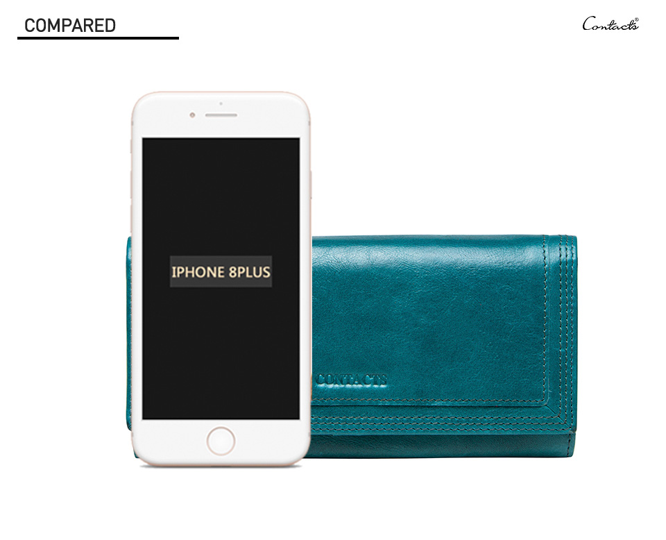 Clutch Wallets for Women Coin Purse Phone Pocket Genuine Leather Female Wallet Card Holder Money Bag gray 19*10*3.5cm 6