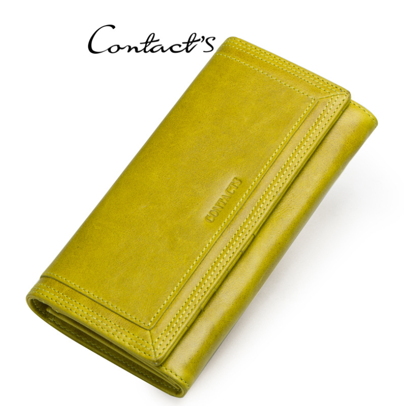 Clutch Wallets for Women Coin Purse Phone Pocket Genuine Leather Female Wallet Card Holder Money Bag gray 19*10*3.5cm 14