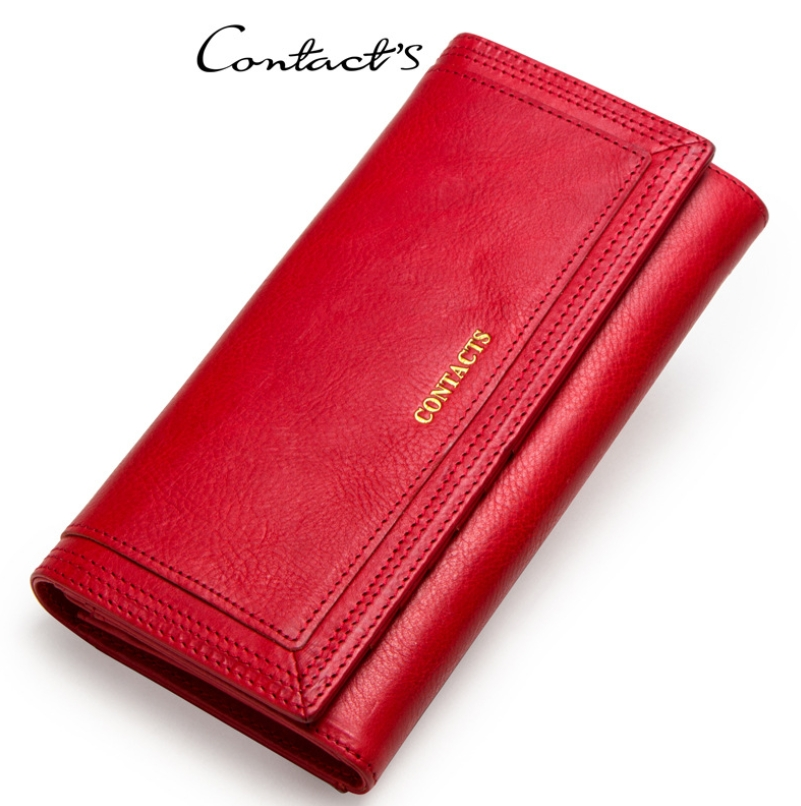 Clutch Wallets for Women Coin Purse Phone Pocket Genuine Leather Female Wallet Card Holder Money Bag gray 19*10*3.5cm 7