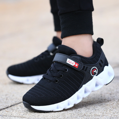 Shoes Boys Girls Sports Shoes Fashion Brand Casual Breathable Outdoor Kids Sneakers Running Shoes black 28