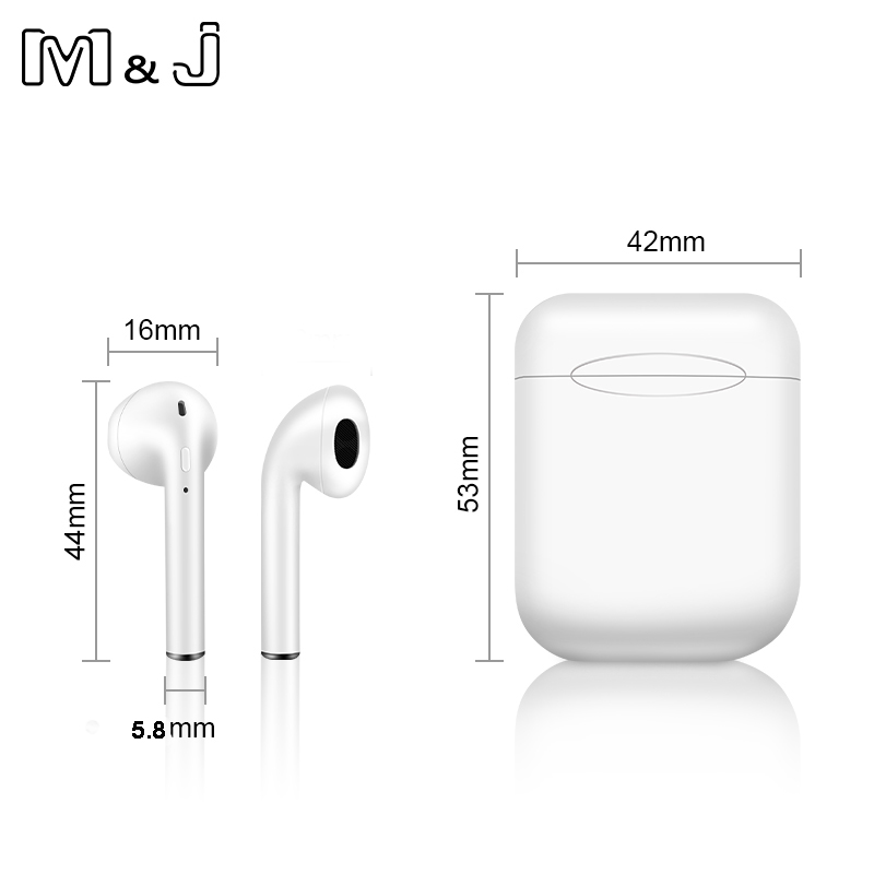 i11 tws Wireless Earphone Bluetooth 5.0 Stereo 3D Headphone TWS Mini Earbuds Headset white+box 10
