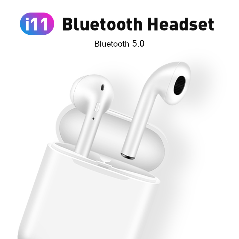 i11 tws Wireless Earphone Bluetooth 5.0 Stereo 3D Headphone TWS Mini Earbuds Headset white+box 1