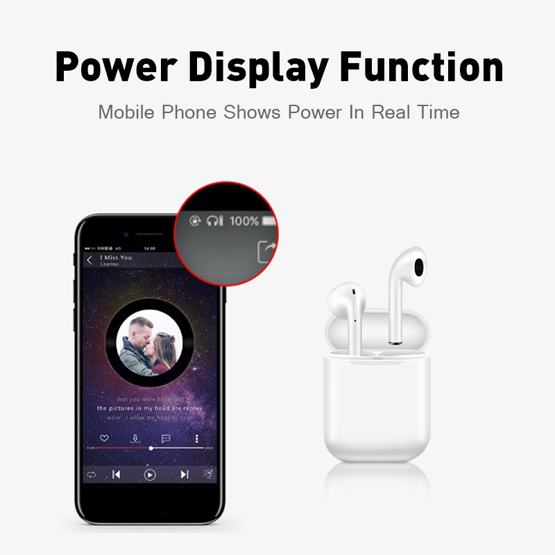 i11 tws Wireless Earphone Bluetooth 5.0 Stereo 3D Headphone TWS Mini Earbuds Headset white+box 7