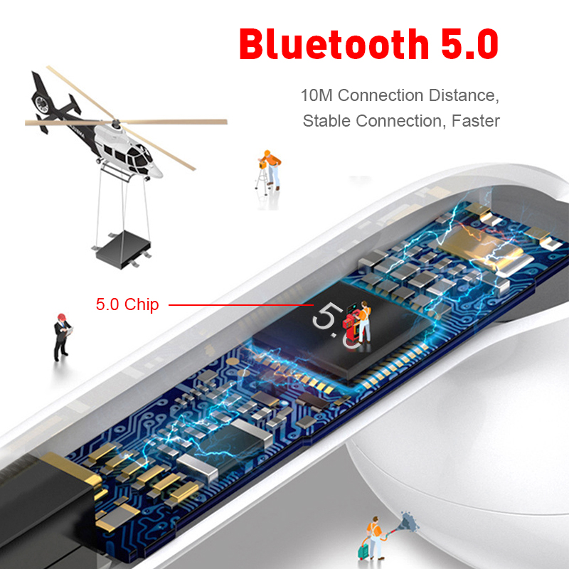 i11 tws Wireless Earphone Bluetooth 5.0 Stereo 3D Headphone TWS Mini Earbuds Headset white+box 2
