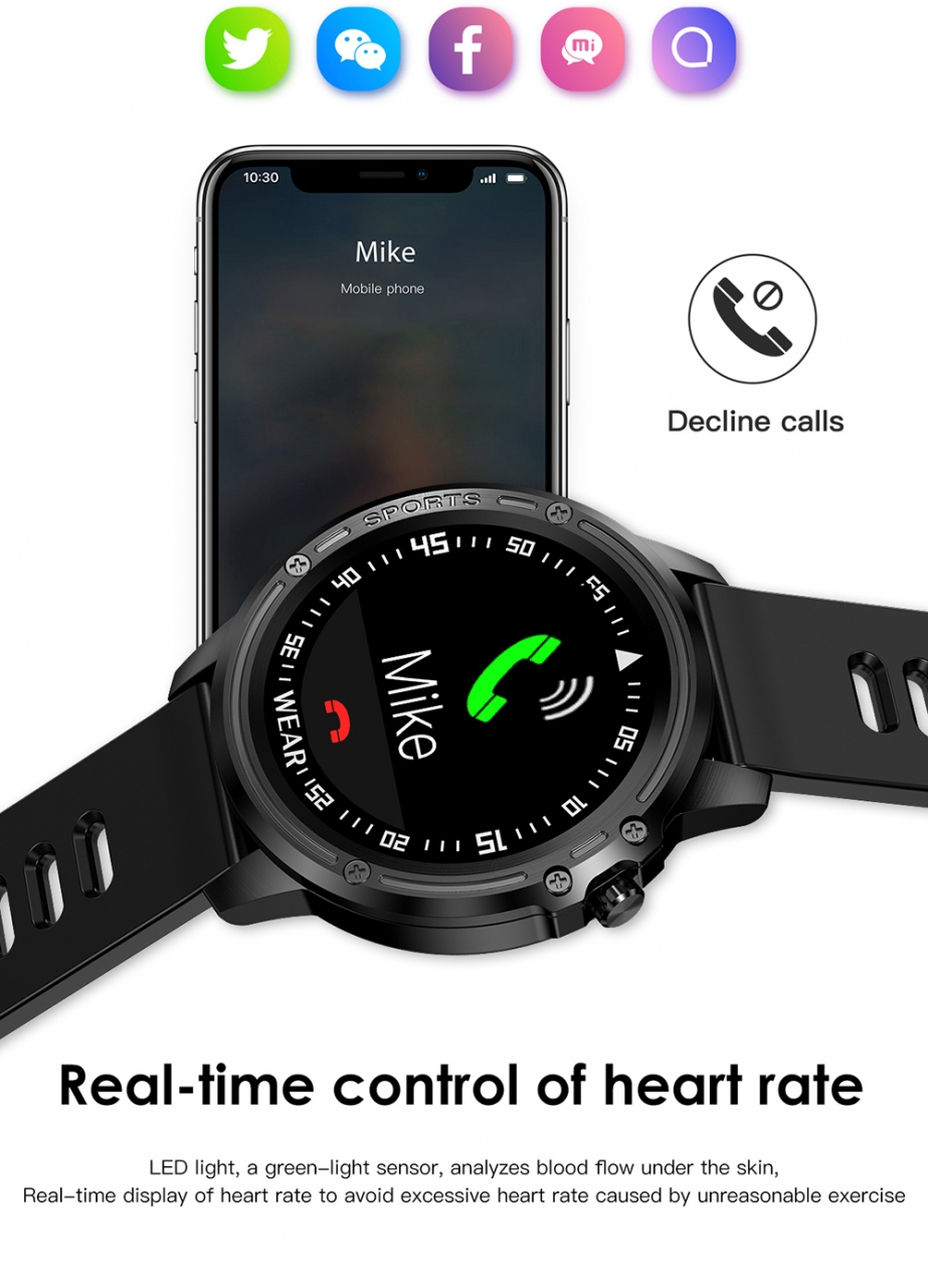 L8 Smart Watch Men IP68 Waterproof Reloj Hombre Mode SmartWatch With ECG PPG Blood Pressure red one size 9