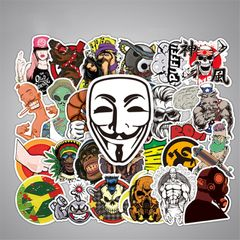 50PCS Fashion Style Graffiti Stickers DIY Luggage Laptop Skateboard Car Motorcycle Bicycle Stickers random style one size